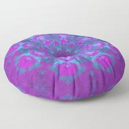 Pink, Purple, and Blue Pixels Floor Pillow
