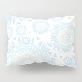 light blue mandalas pattern Pillow Sham