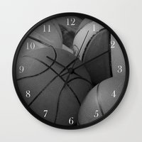 basketball Wall Clocks featuring Basketball by Sary and Saff