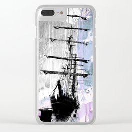 POLAR STAR blue Clear iPhone Case