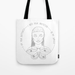 I am your Butterfly Tote Bag
