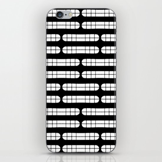 Grift Black & White Pattern iPhone & iPod Skin