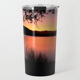 LAKE HENNESSEY - NAPA CALIFORNIA - SUNSET REFLECTION Travel Mug