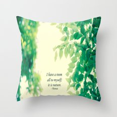 Nature's Room Throw Pillow
