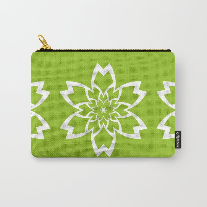 Green Flower Carry-All Pouch
