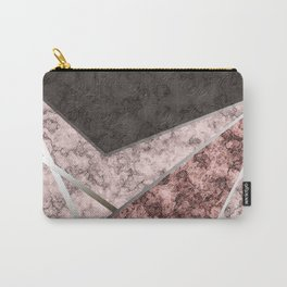 Marble . Combined abstract pattern . Carry-All Pouch