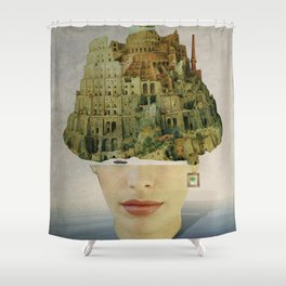 Miss Babel Shower Curtain