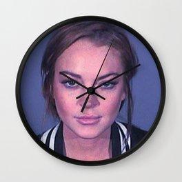 Lindsay 2013 Mugshot **Signatured** Wall Clock