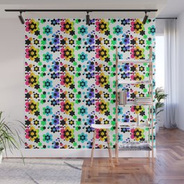 Rainbow Floral Abstract Flower Wall Mural