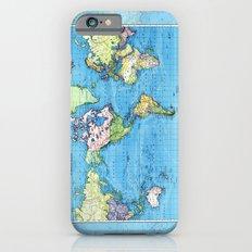Mercator Map of Ocean Currents iPhone 6s Slim Case