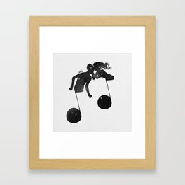 When love meets music. Framed Art Print