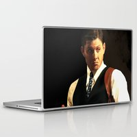 dean winchester Laptop & iPad Skins featuring Fancy Dean Winchester by thefluidlines