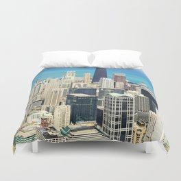 Chicago Buildings Color Photo Duvet Cover