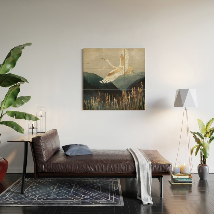 Elegant Flight Wood Wall Art