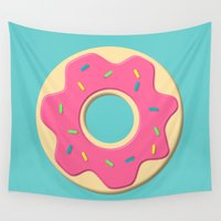 donut Wall Tapestries featuring Donut by JJ's Photography