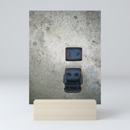 Comfy Office Chair on Concrete Mini Art Print