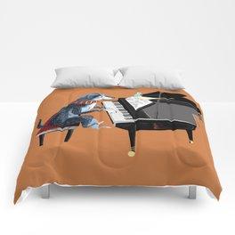 Piano lesson ( Doggy Art ) Comforters
