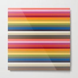 Stripes | Pantone Fashion Colors 2019 | New York | Metal Print