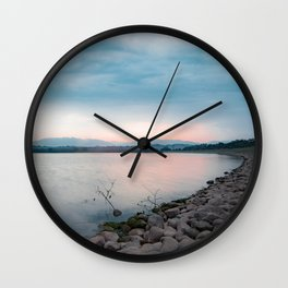 Sunrise by the Lake Side Wall Clock