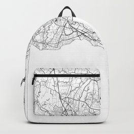 Lausanne Map White Backpack