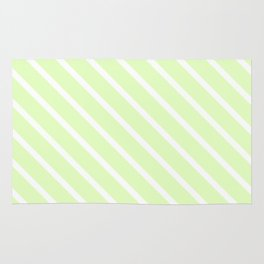 Cool Cucumber Diagonal Stripes Rug