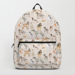 Hound dogs pattern on neutral background Backpack