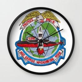 USS GEORGE WASHINGTON (SSBN-598) PATCH Wall Clock