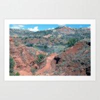 palo alto Art Prints featuring Palo Duro Canyon by deleas