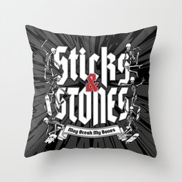 Sticks and Stones Throw Pillow