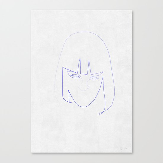 One Line Mia Wallace Canvas Print