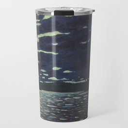 Moonlight – McIntosh Lake, Algonquin Park Travel Mug