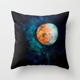 Mars and Luna Throw Pillow