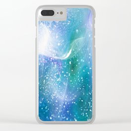 Blue, Purple and Green Neon Sparkle Clear iPhone Case