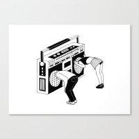 radiohead Canvas Prints featuring Radiohead by Henn Kim