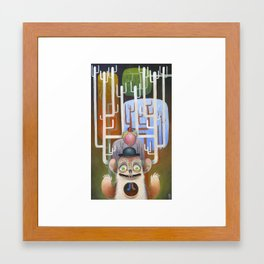 Bye bye to your heart Framed Art Print
