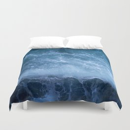 Waves from above Duvet Cover