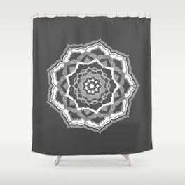 White Mandala Shower Curtain