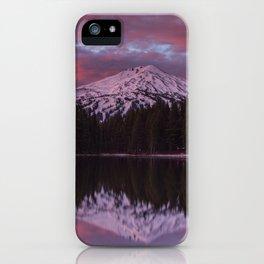 Mt. Bachelor sunrise reflection iPhone Case