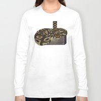 monty python Long Sleeve T-shirts featuring Python - Thor by ArtLovePassion