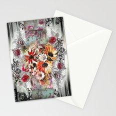 Victorian Flower Design Stationery Cards