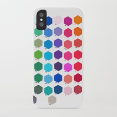 Hexagon Color Chart iPhone X Slim Case