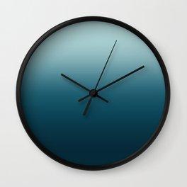 Blue Sky Gradient Wall Clock