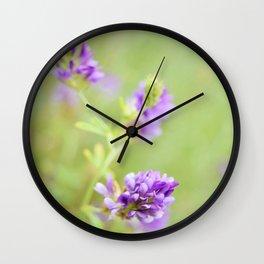 Purple Wildflower  Wall Clock