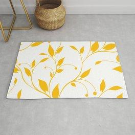FLOWERY VINES | white yellow Rug