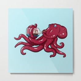 The Kraken's Day Off Metal Print