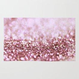 Pink Sparkle shiny glitter effect print - Sparkle Valentine Backdrop Rug
