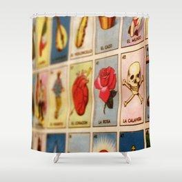 Lotería Shower Curtain