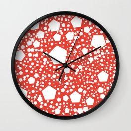 "Kalinka. ""Vermilion"" color Wall Clock"