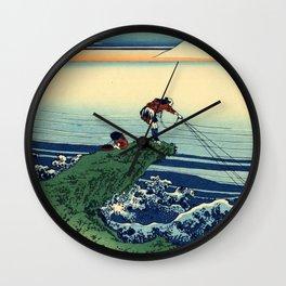 "Hokusai (1760-1849)  ""Kajikazawa in Kai Province"" Wall Clock"