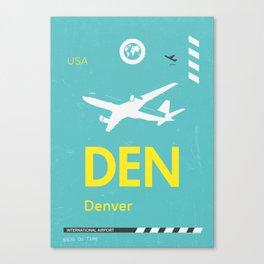 DEN Denver airport tag Canvas Print